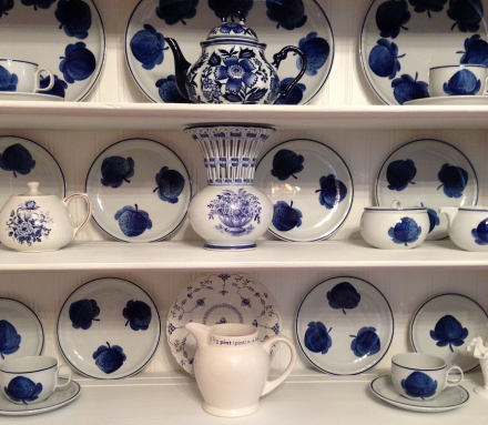 Blue & White Country Cupboard