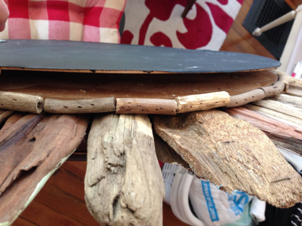 Driftwood Mirror Backing Removed