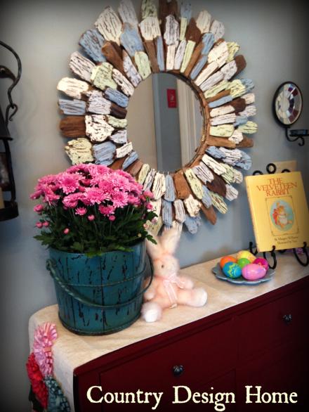 Driftwood Mirror Easter Vignette PM