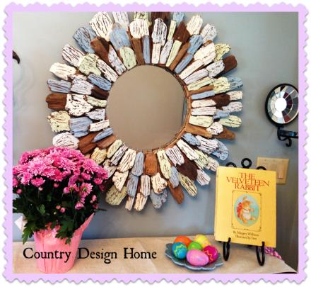 HomeGoods Driftwood Mirror