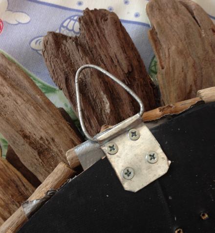 Hanging Bracket Behind Driftwood
