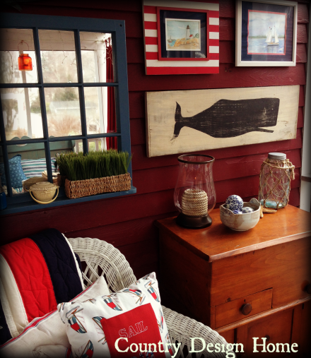 Nantucket Brand Whale Painting