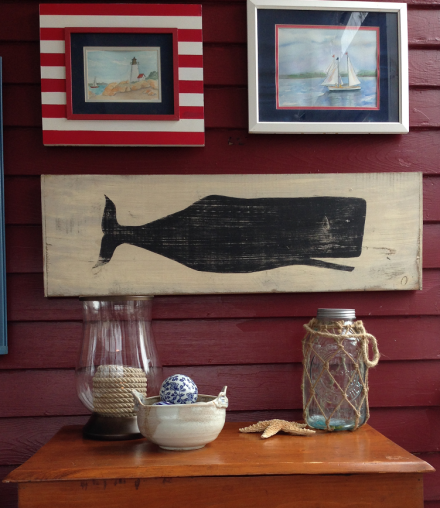 Nantucket Brand Whale Sign