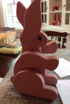 Pink Wood Easter Bunny