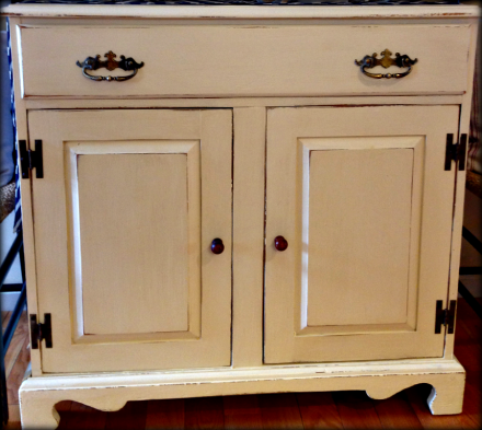 Country Pine Commode Painted