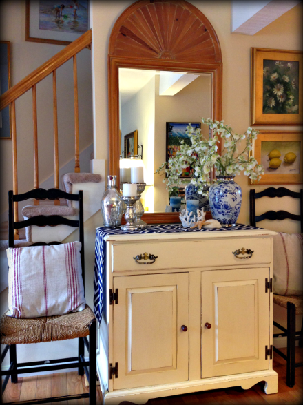 Painted Pine Country Commode
