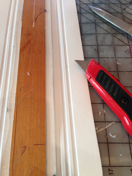 Foam Wainscotting for Trim