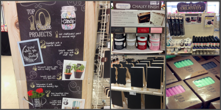 Michaels Chalk Craft Display