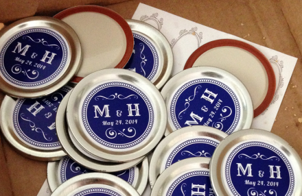 Vinyl Round Stickers for Mason Jars