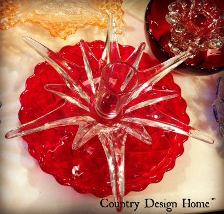 Creative Glass Works Red Flower