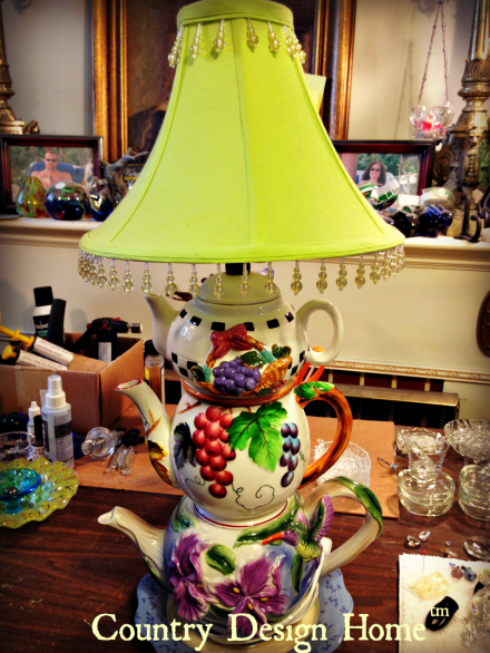 Creative Glass Works Teapot Lamp PM
