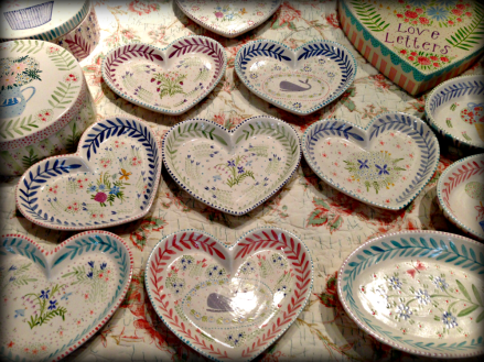 Hand Painted Hearts from Nanctuket Mermaid