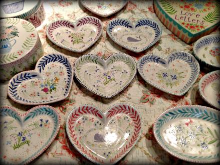 Hand Painted Hearts from Nanctuket Mermaid