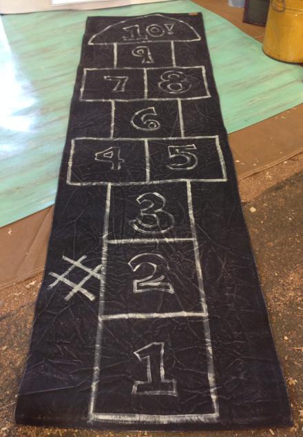 Hopscotch FloorCloth Addie Peet Designs
