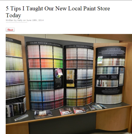 Kelly Bernier Designs Paint Store Photo