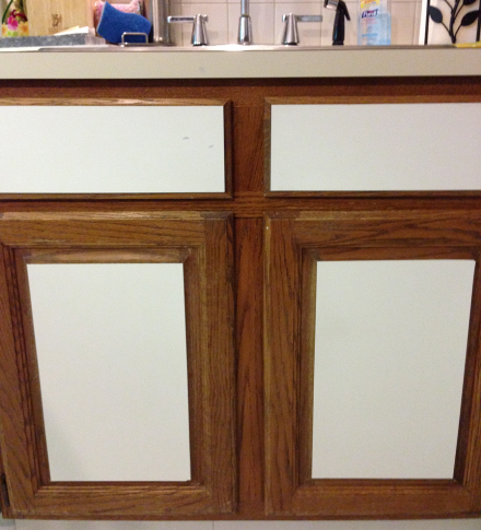 Kitchen Cabinets with Vinyl Panels