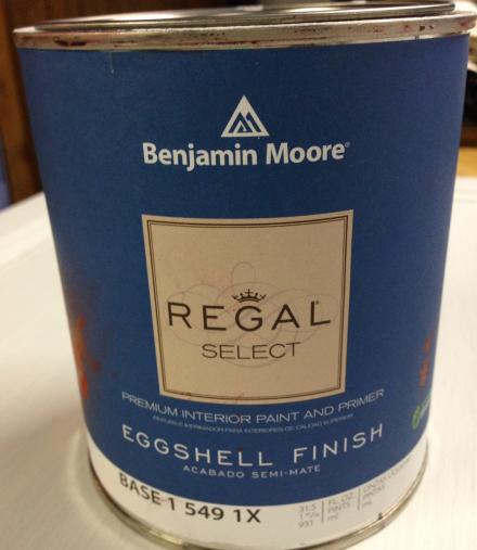 Benjamin Moore Eggshell Design Studio White