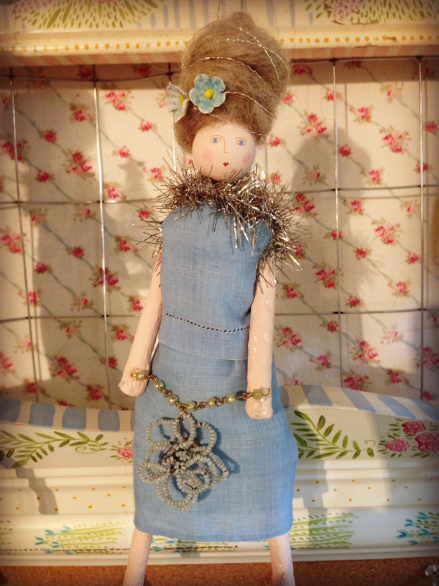 Lavender Mermaid Doll from Nantucket Mermaid