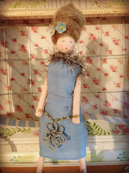 Lavender Mermaid Doll from Nantucket Mermaid