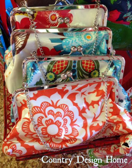Oilcloth Clutch purses from Modern June