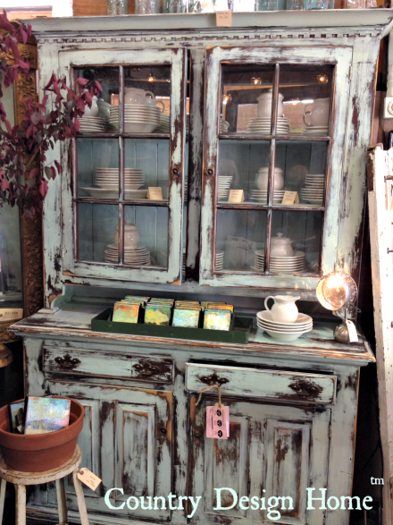 Painted Cupboard by Blue Bird Home Decor