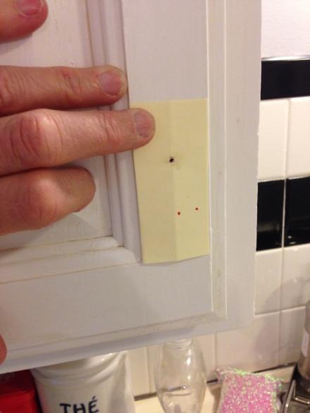Cabinet Door Template for Knob