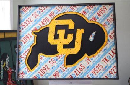 CU Boulder License Plate Art Aaron Foster