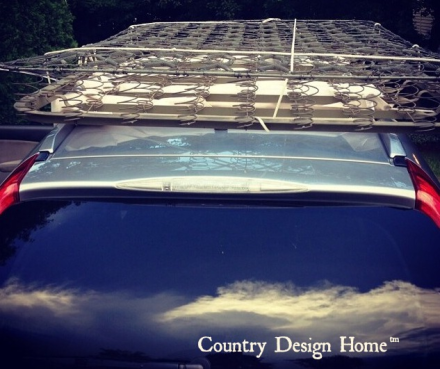 Bedsprings on Car Roof