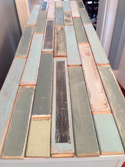 Coastal Kitchen Cupboard Arranging Shutter Slats