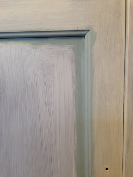 Coastal Kitchen Cupboard Framed Cabinet Doors with Chalky Paint
