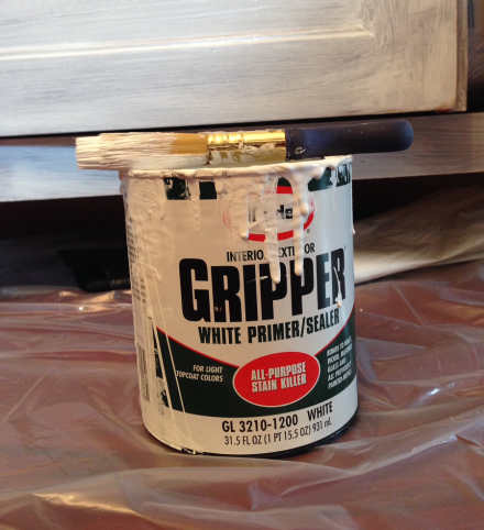 Coastal Kitchen Cupboard Glidden Gripper Primer