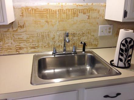 Granite Kitchen Sink Before