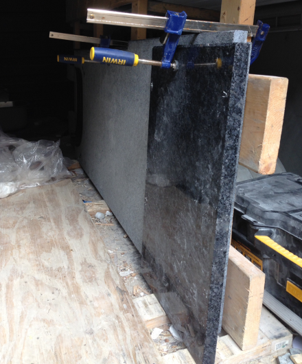 Granite Slabs in Truck