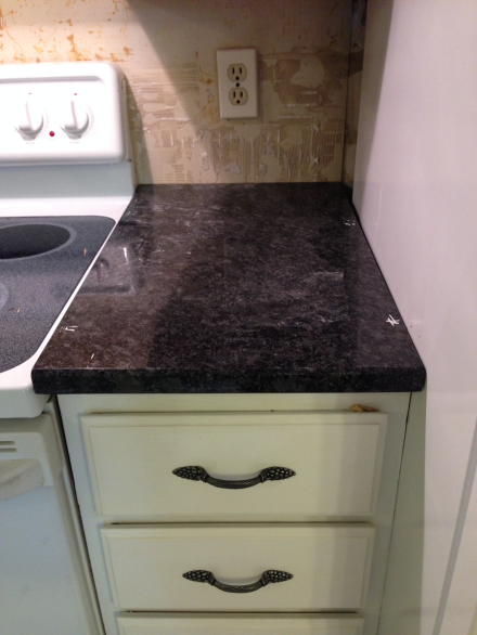 Granite Stove Side Counter After