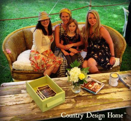 Joanne, Desha & Devon at Vintage Bazaar Tent