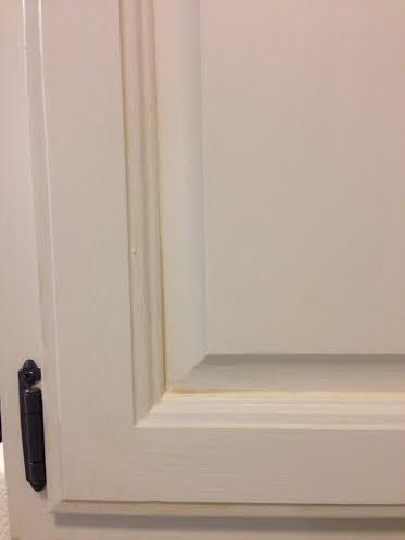 Glazed Tinted White Cabinets