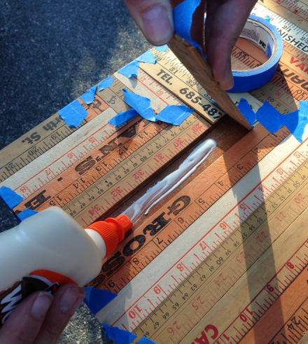 Vintage Rules Glueing the Slats into place