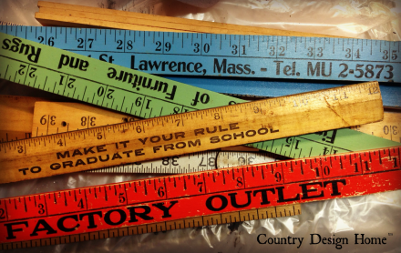 Vintage Yardsticks and Rulers