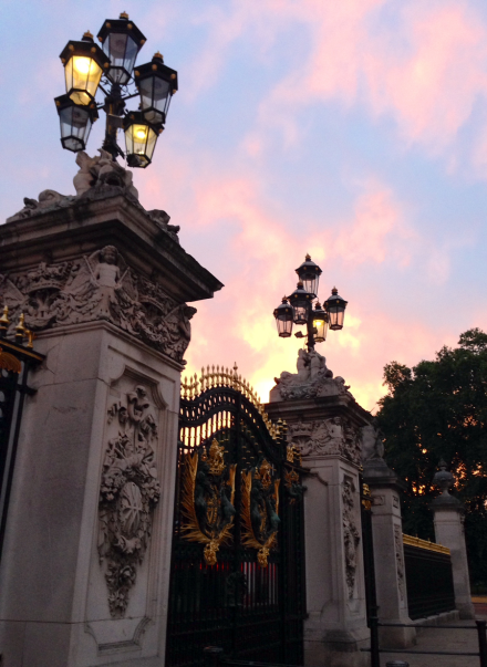 London Buckingham Palace Gates Sunset