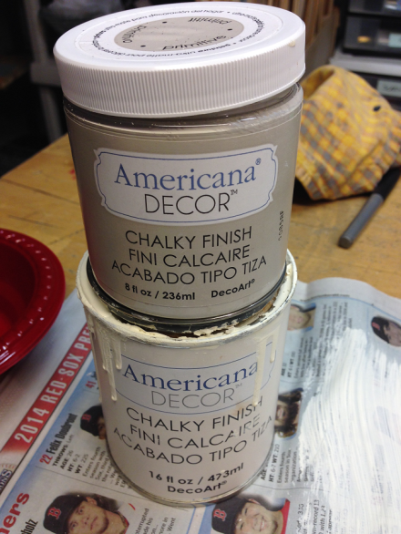 USA Map Americana Chalky Paint