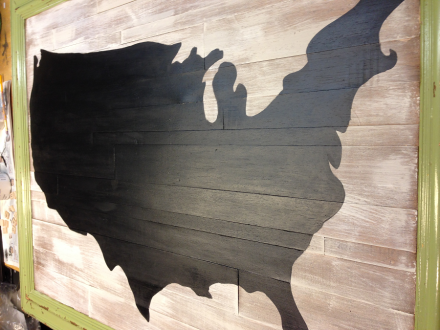 USA Map Completed Chalk Paint