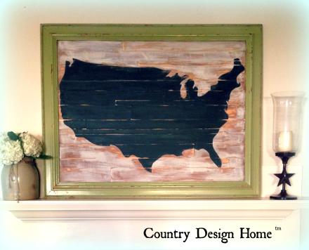 USA Map Displayed on Mantel TM