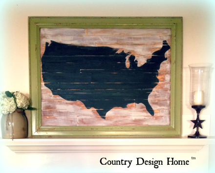 USA Map Displayed on Mantel TM