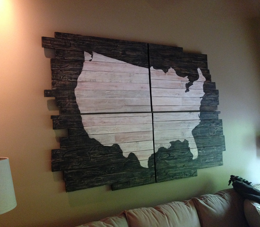Usa Chalkboard Map Country Design Home