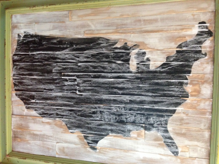 USA Map Surface Chalked