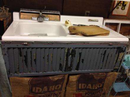 Vintage Sink Burlap Potato Sacks