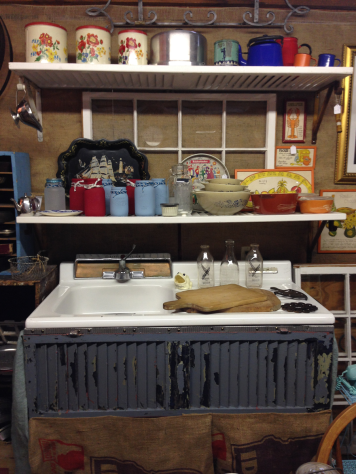 Vintage Sink Vignette in Shop