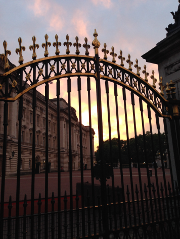 Buckingham Palace Gates at Sunset