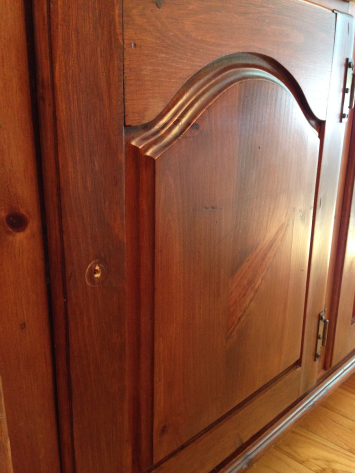 Dining Room Hutch Old English After