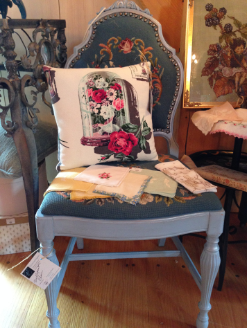 Eccentrique Needlepoint Chair and Pillow